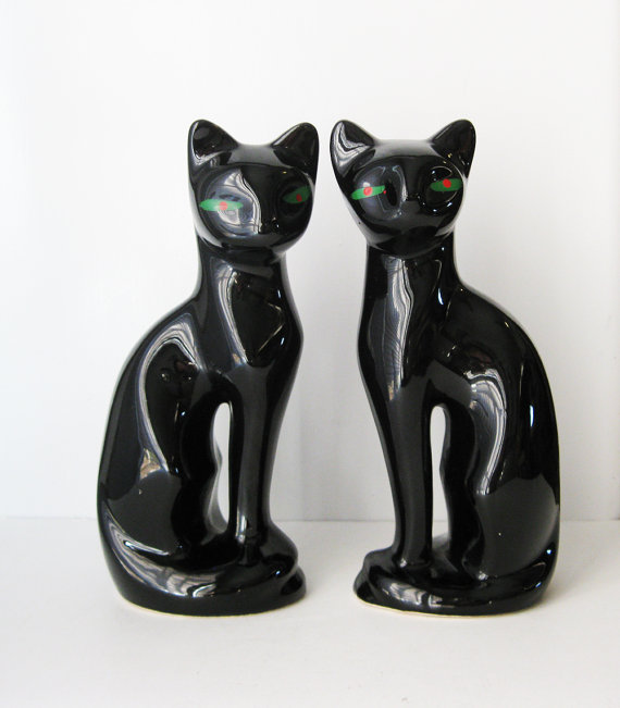 handmade resin cat statue